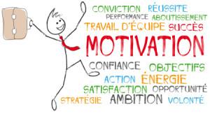 personnage et nuage de mots motivation