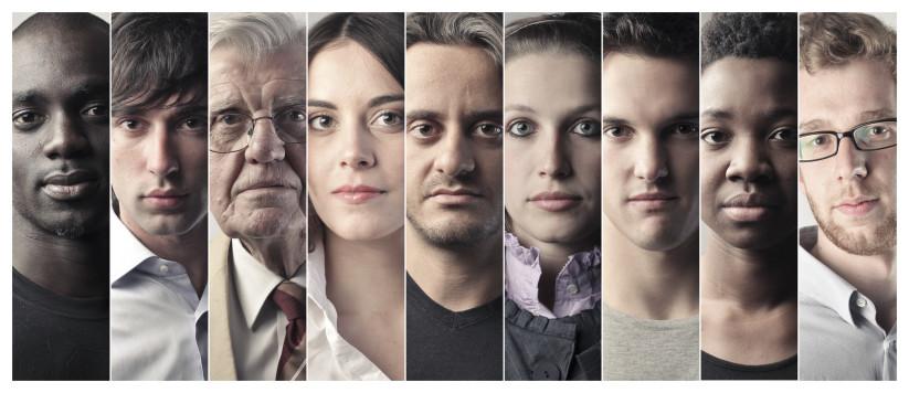 Portraits de plusieurs personnes de génération différente