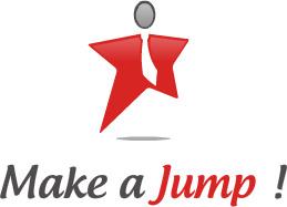 logo make a jump
